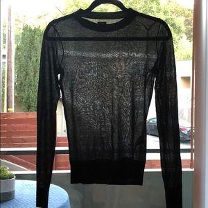Black sheer sparkle sweater